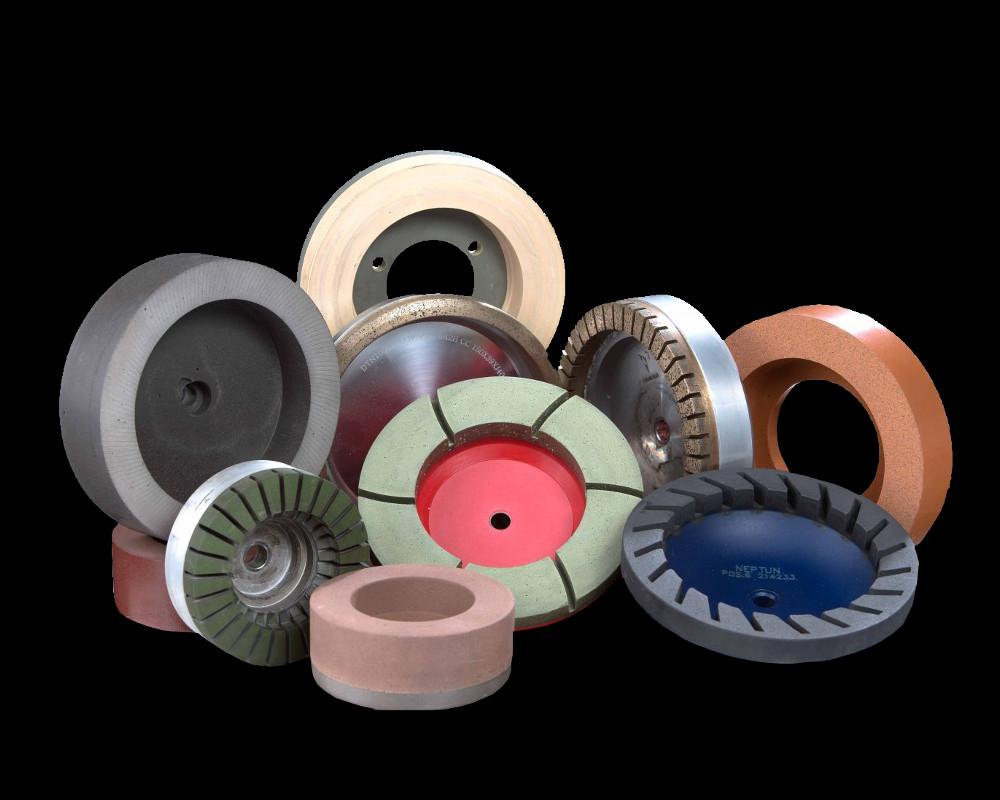 Cup polishing discs.